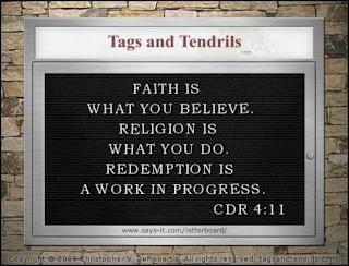 Faith Is Letterboard (c) Copyright 2009 Christopher V. DeRobertis. All rights reserved. insilentpassage.com