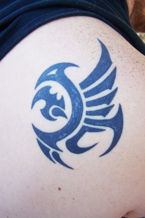 Cool Tribal Arm Tattoo Eagle Design