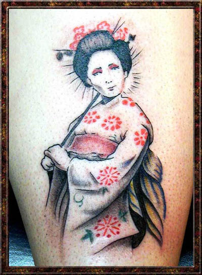 Best 10 Geisha Tattoos It is certainly of the old school.