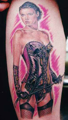 Female Tattoos Design : Pinup Girls Tattoo 2