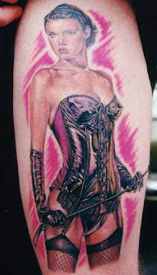 Female Tattoos Design : Pinup Girls Tattoo 2