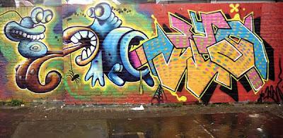 Snail and Arrow Graffiti Alphabet Style