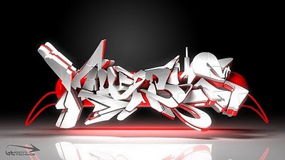 cool 3d graffiti alphabet letters