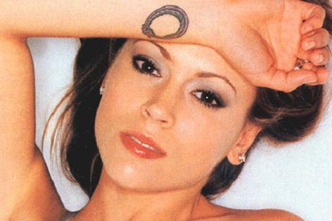 Alyssa Milano Celebrity Wrist Tattoo Picture
