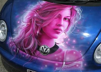 pink grils airbrush