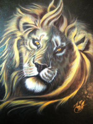 Lion Airbrush Character