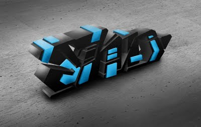 Photoshop 3D Graffiti Alphabet Letter