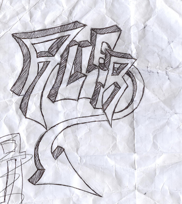 Graffiti Sketch Alphabet Arrow