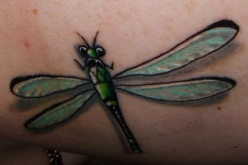 Dragonfly tattoos are perfect for just about any part of the body.