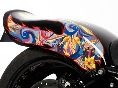Modification sporty Airbrush Harley-Davidson Night Road 5