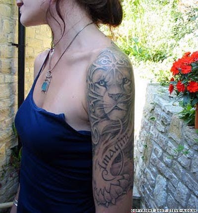 Lion Tribal Tattoo on Make Tattoos  Tribal Tattoos    Tribal Lion Tattoo Designs