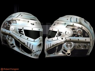 Amazing airbrush helmet creations