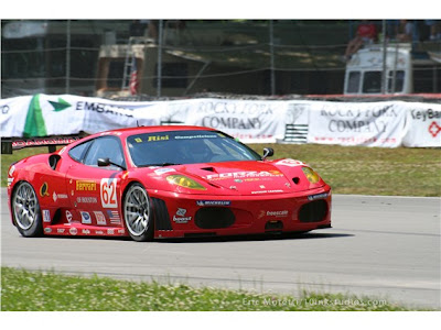 Red Ferrari 430 Race Cars Wallpaper