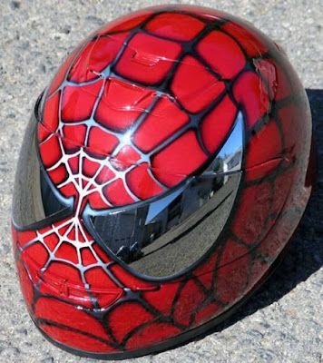 airbrush helmet spiderman designs