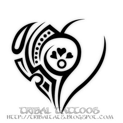 Tribal Heart Unique Tattoos 4