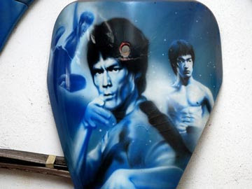 bruce lee airbrush character