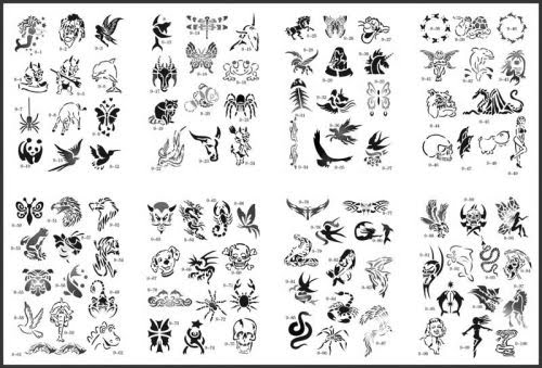 Cool airbrush stencils designs view car modification 2011 for Spray on tattoo stencils