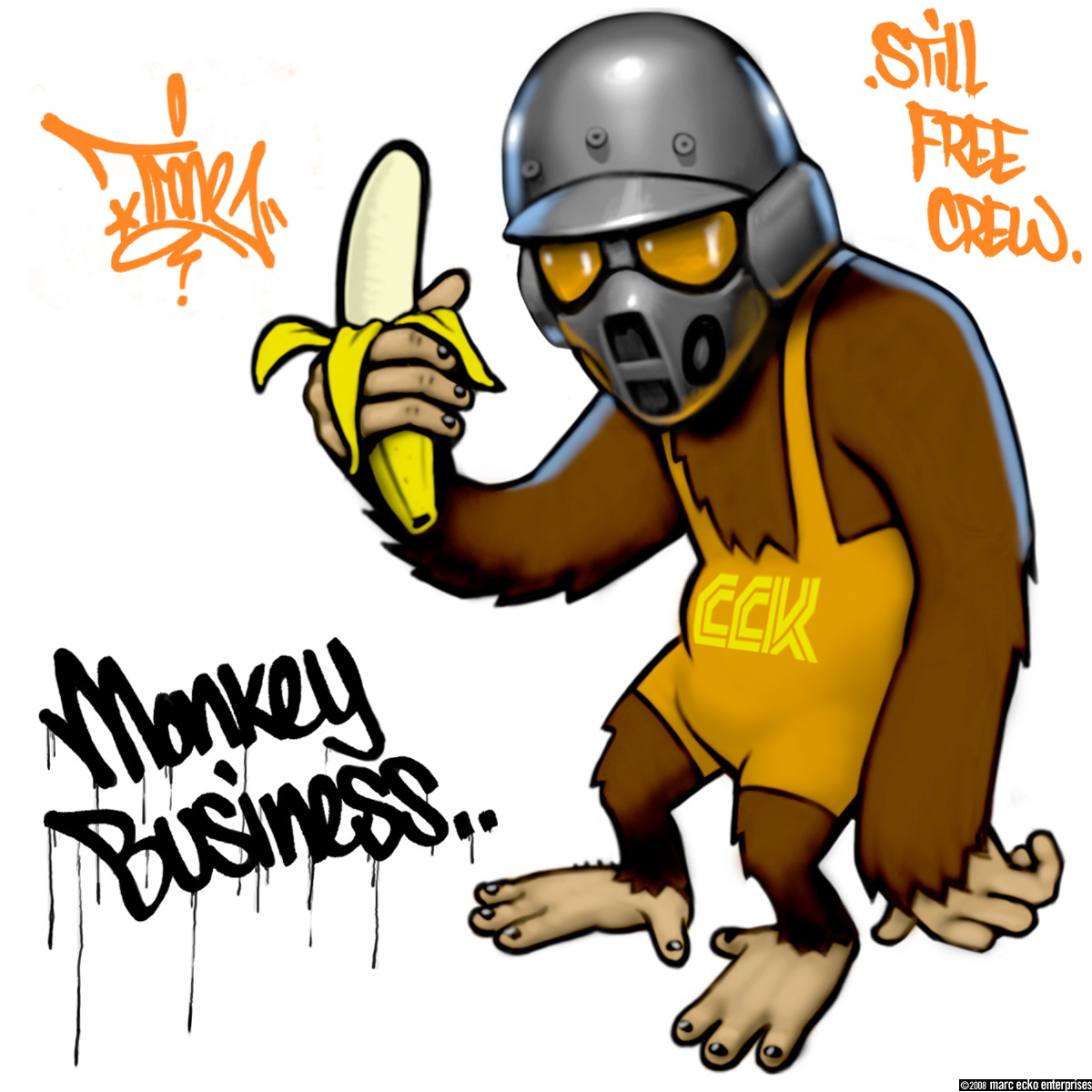 Monkey Graffiti Character Designs Picture