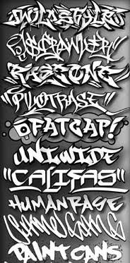 Cool Graffiti Font Sample Graffiti Alphabet