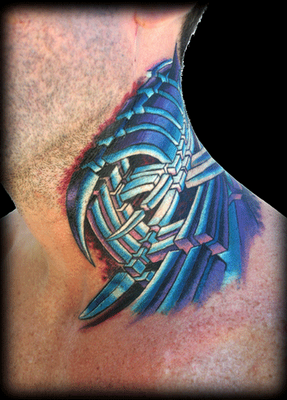 Cool Biomechanical Tattoo Designs 7