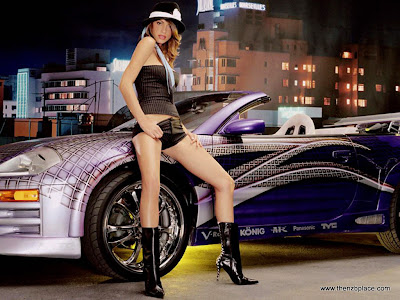 Cool Super Cars With Hot Girls 2010