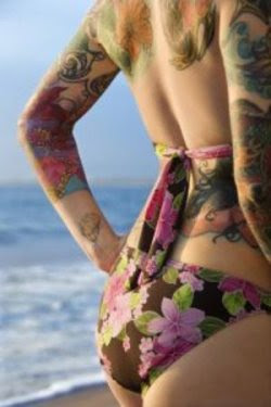 Feminine sexy grils with tribal tattoos 2