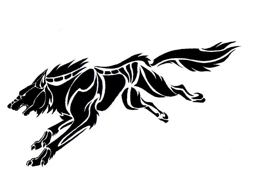 Tribal Tattoo Design 308 » If you pick one of those tribal wolf tattoos,