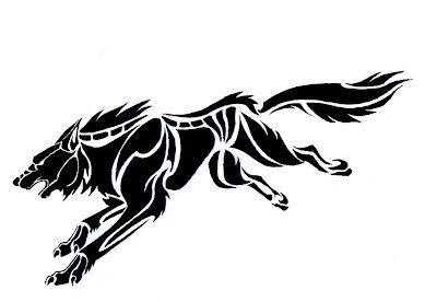 Wolf Tattoo Designs Size:301x400 - 29k: Flash Free Wolf Tattoo