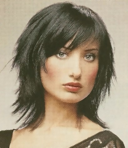 Medium Length Hairstyles with Bangs sleek