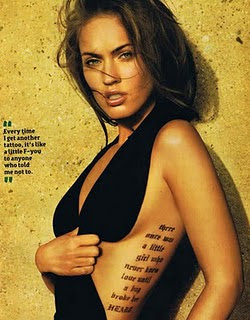 Megan Fox Gets Ninth Letters Tattoo