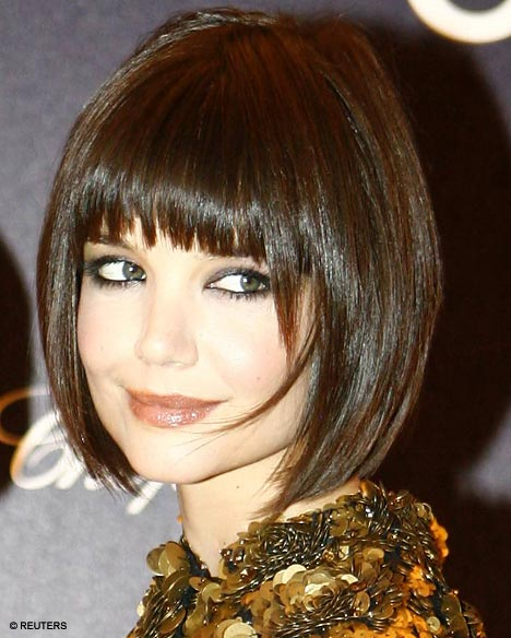 hairstyle photography. Celebrity hairstyles - haircuts: Katie Holmes hairstyles