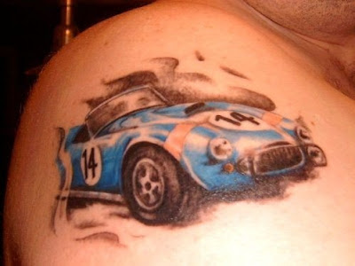 Race Classic Car Tattoo
