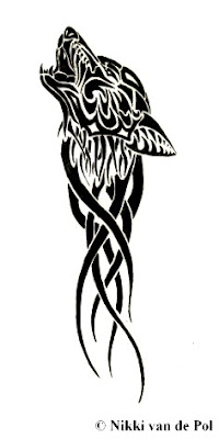Tattoo Wolf Tribal Designs 4