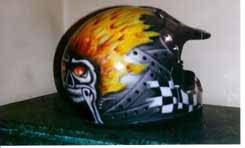 2012 Custom Airbrush Helmet 4