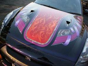 Super Car Nissan GT-R R35 Airbrush 1