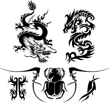 skull tattoo art design