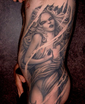 Best tattoo artist in nyc december 2010 for Back mural tattoo designs