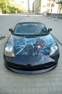 Terminator Airbrush Designs on Sport Car