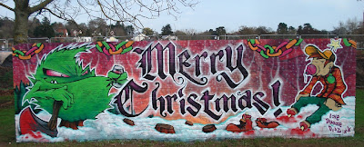 2011 Christmas Graffiti Art Gallery Designs 1