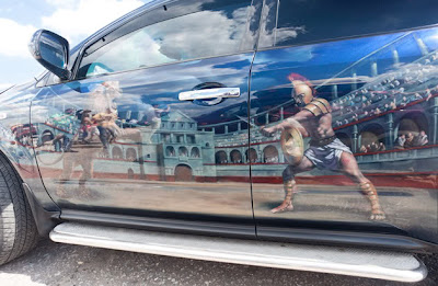 Amazing Graffiti Mural Art on Car 10