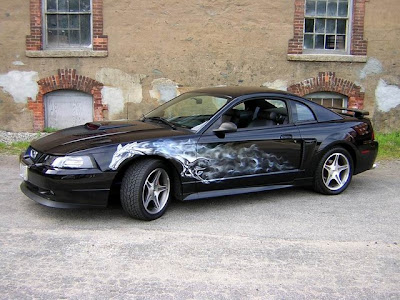 Automotive Art & Design Airbrush on Mustang Car 1