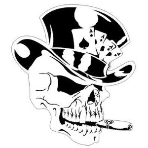 Mithos Tatto on 2011 Airbrush Stencils Artwork Skull Head And As Card Slash Hat