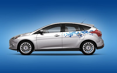 Custom Ford Focus Car Airbrush Artwork 05