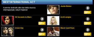Justin Bieber, Avril Lavigne,