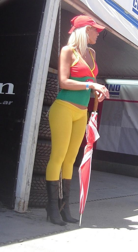Candidcurves Tight Yellow Leggings
