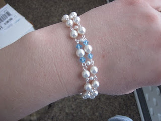 Aquamarine and Pearl Crystal Set