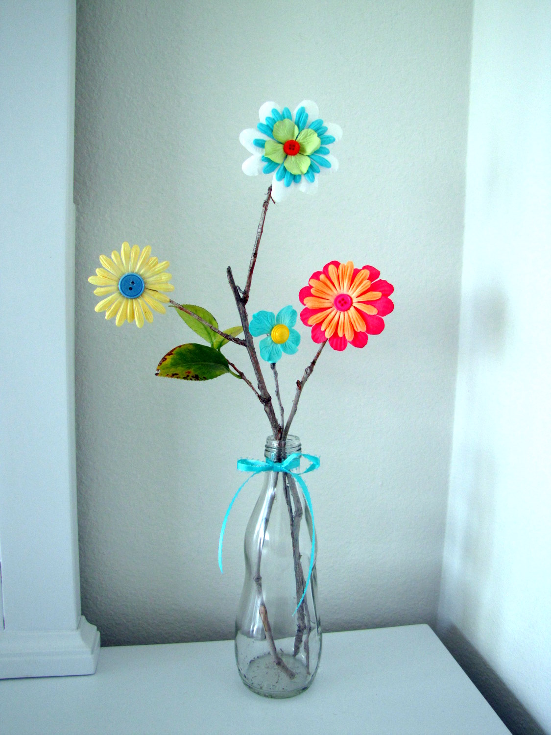 Paper flower arrangement tutorial craft little miss momma paper flower arrangement tutorial mightylinksfo