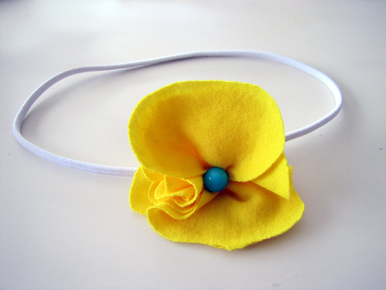 T-Shirt Flower Headband TUTORIAL - craft - Little Miss Momma