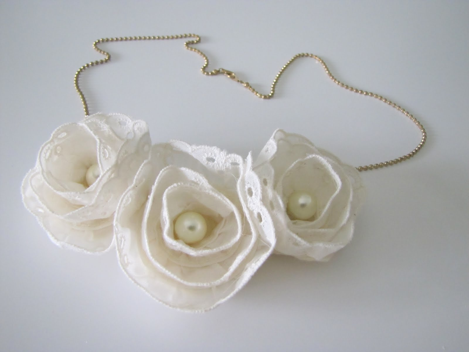 Anthropologie Lace Flower Necklace Diy Craft Little Miss Momma