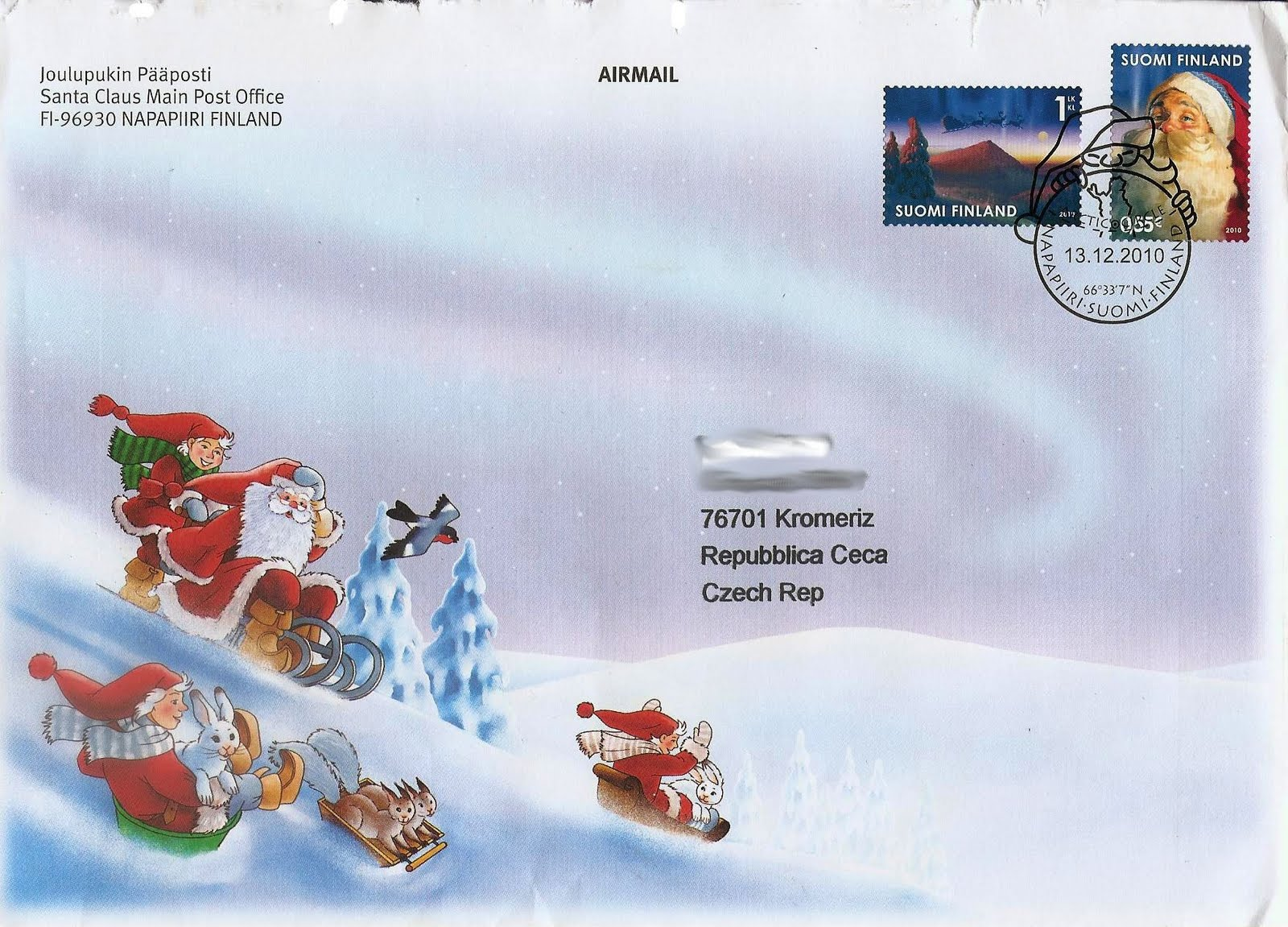 Stamps I've Met: Santa Claus cover from Finland